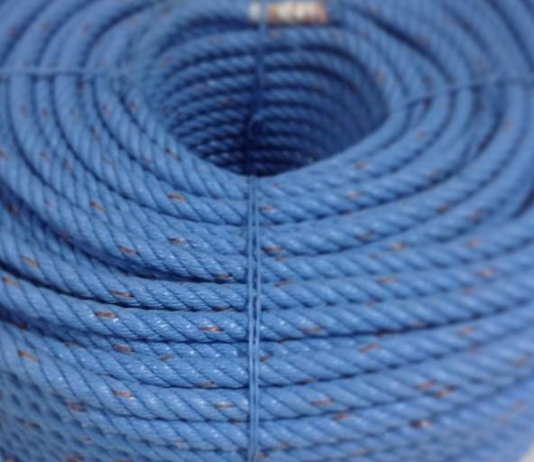 เชือกใยยักษ์ เกรดเอ สีฟ้า