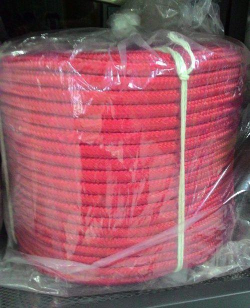 เชือกถัก PP สีแดง